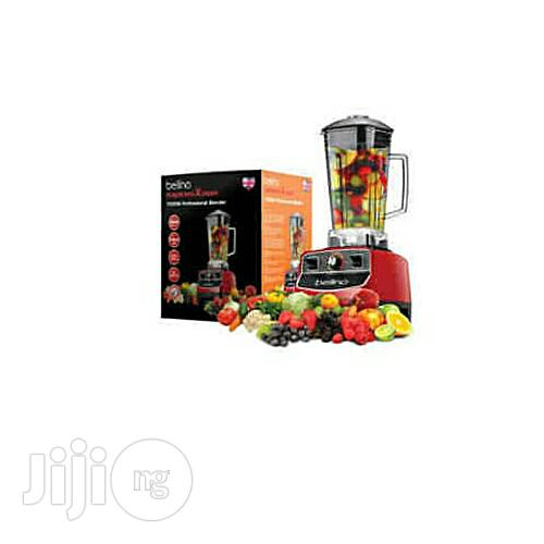 Bellino 1500w Power Pro Blender Smoothie 2L Red Heavy Duty Commercial | Restaurant & Catering Equipment for sale in Gwagwalada, Abuja (FCT) State, Nigeria