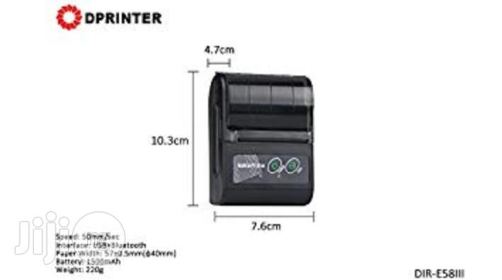 Portablei 58mm Wireless Bluetooth Mobile Thermal POS Printer | Printers & Scanners for sale in Ikeja, Lagos State, Nigeria