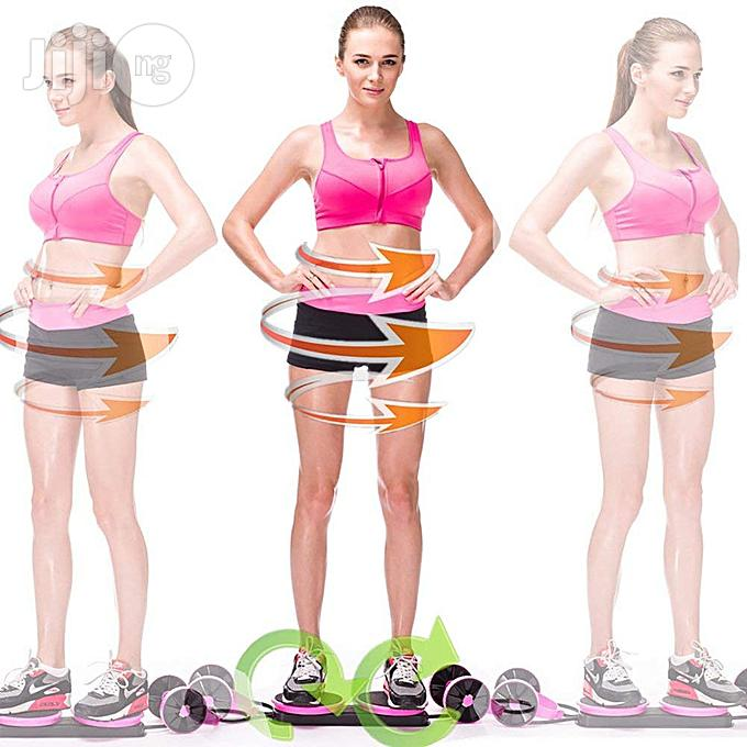 Multifunctional Abdominal Wheel Roller Fitness For Abdominal Fitness & Twist Weight | Sports Equipment for sale in Surulere, Lagos State, Nigeria