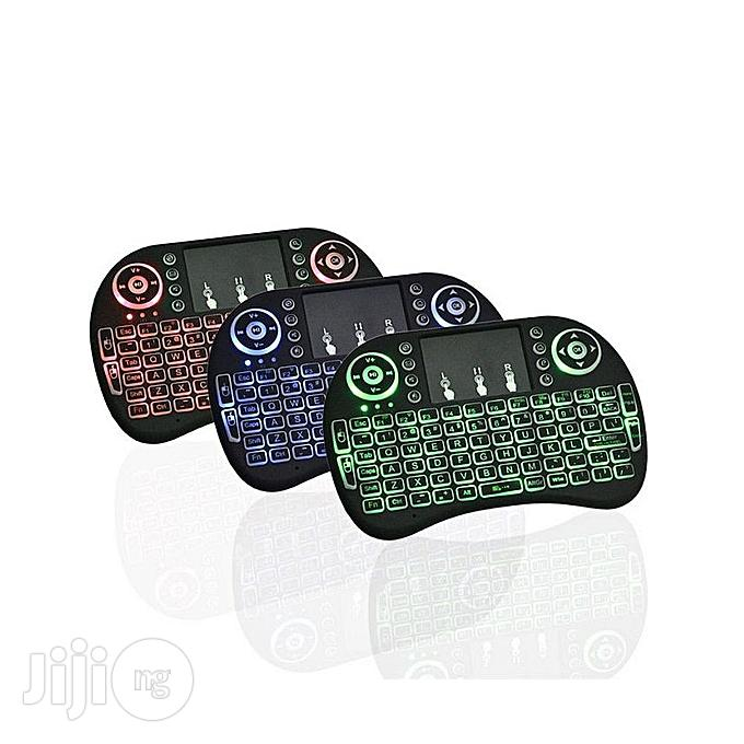 Portable Wireless Keyboard With 3 Colour Backlight Mouse   Computer Accessories  for sale in Alimosho, Lagos State, Nigeria