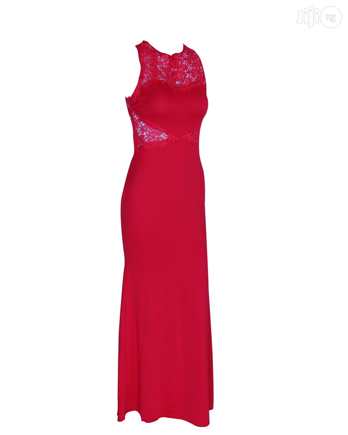 Red Explosion Evening Dress Applique Exotic Dress | Clothing for sale in Ikeja, Lagos State, Nigeria
