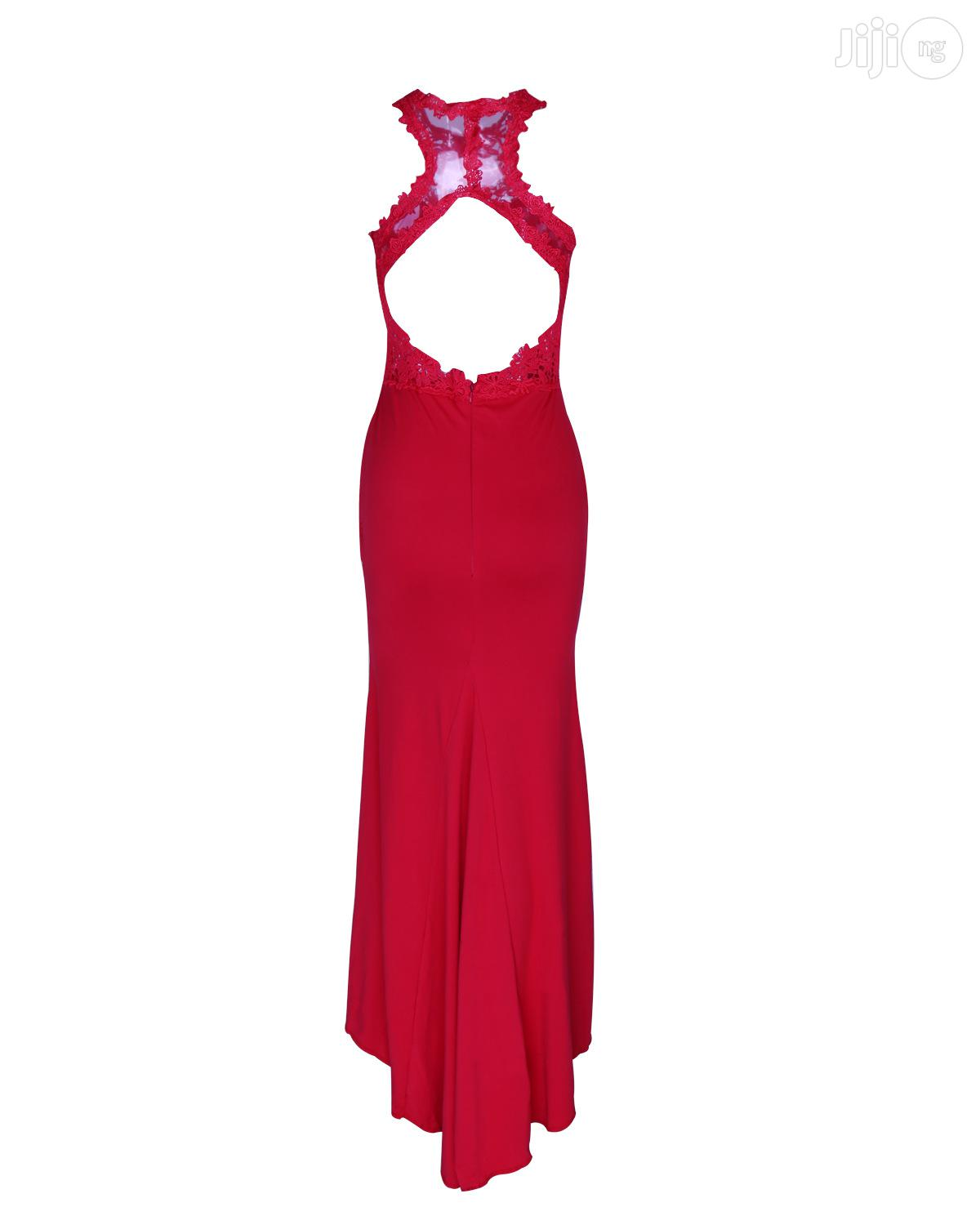 Red Exotic Dress Applique Stitching Sleeveless Sexy Classic Dress | Clothing for sale in Ikeja, Lagos State, Nigeria