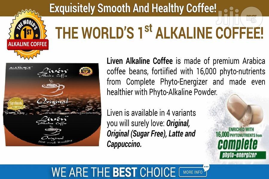 Archive: Liven Alkaline Coffee: Original Latte Cappucino and Sugar Free Flavo