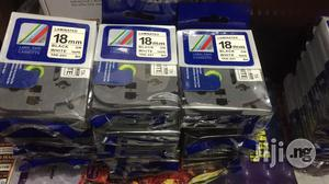 BROTHER 18mm TAPE Black On White | Accessories & Supplies for Electronics for sale in Lagos State, Ikeja