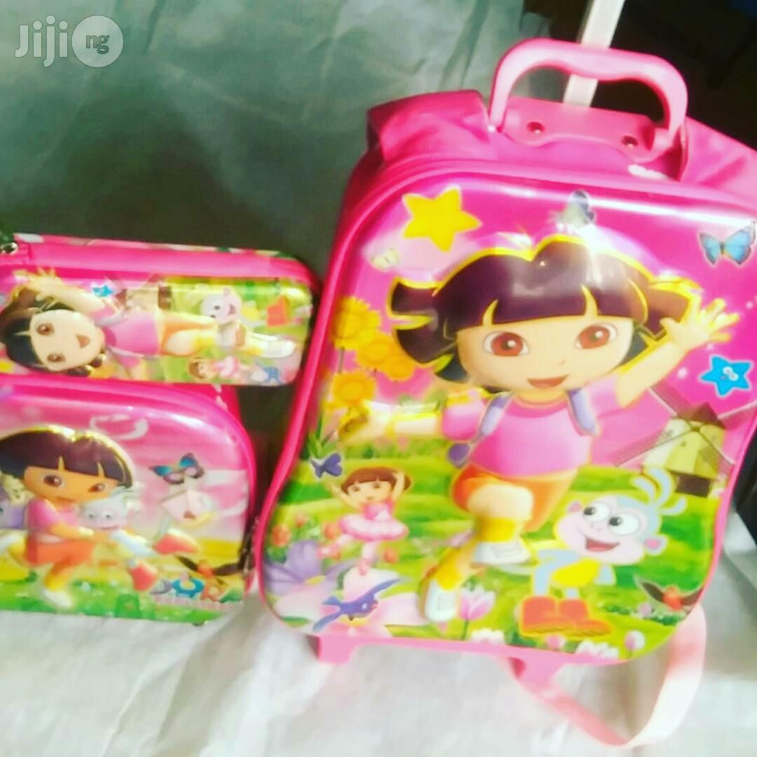 Characters Trolley School Bag