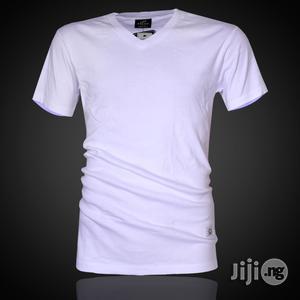 Police B.011 Bigsize Plain White Large Short Sleeve T-Shirt   Clothing for sale in Lagos State, Surulere