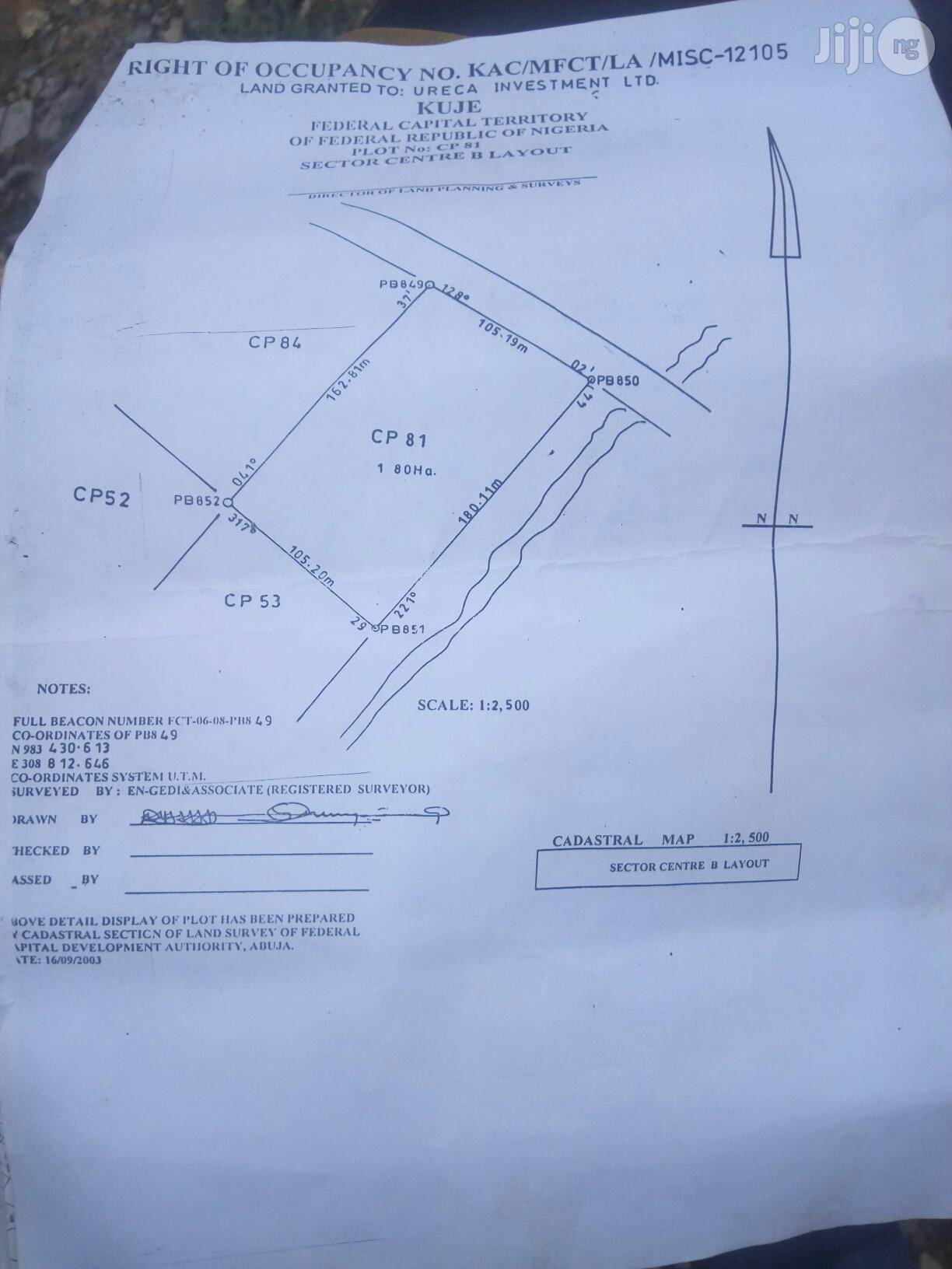 Commercial Plot of 1.8hecters With Existing Structures at Kuje, Abuja