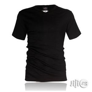 Police B.011 Bigsize Plain Black Large Short Sleeve T-shirt   Clothing for sale in Lagos State, Surulere