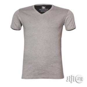 Police B.011 Bigsize Plain Grey Large Short Sleeve T-Shirt   Clothing for sale in Lagos State, Surulere