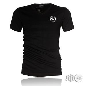 Police B.266 Bigsize Black Large Short Sleeve T-shirt   Clothing for sale in Lagos State, Surulere