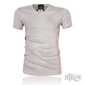 Police B.266 Bigsize Grey Large Short Sleeve T-shirt   Clothing for sale in Lagos State, Surulere