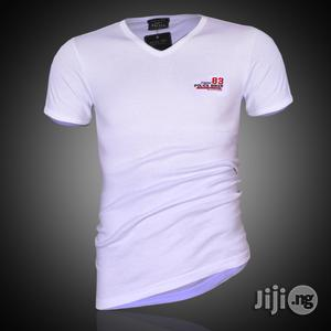Police B.349 Bigsize White Large Printed Short Sleeve T-shirt   Clothing for sale in Lagos State, Surulere