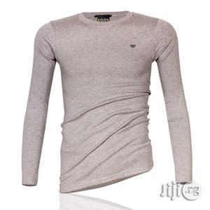 Police B.015 Xtrasize Plain Grey Large Long Sleeve T-Shirt   Clothing for sale in Lagos State, Surulere