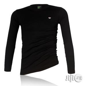 Police B.015 Xtrasize Plain Black Large Long Sleeve T-shirt   Clothing for sale in Lagos State, Surulere