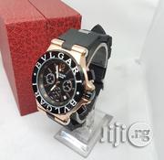 Main Original Bulgari Chronograph Rubber Leather Wristwatch. | Watches for sale in Lagos State, Lagos Island