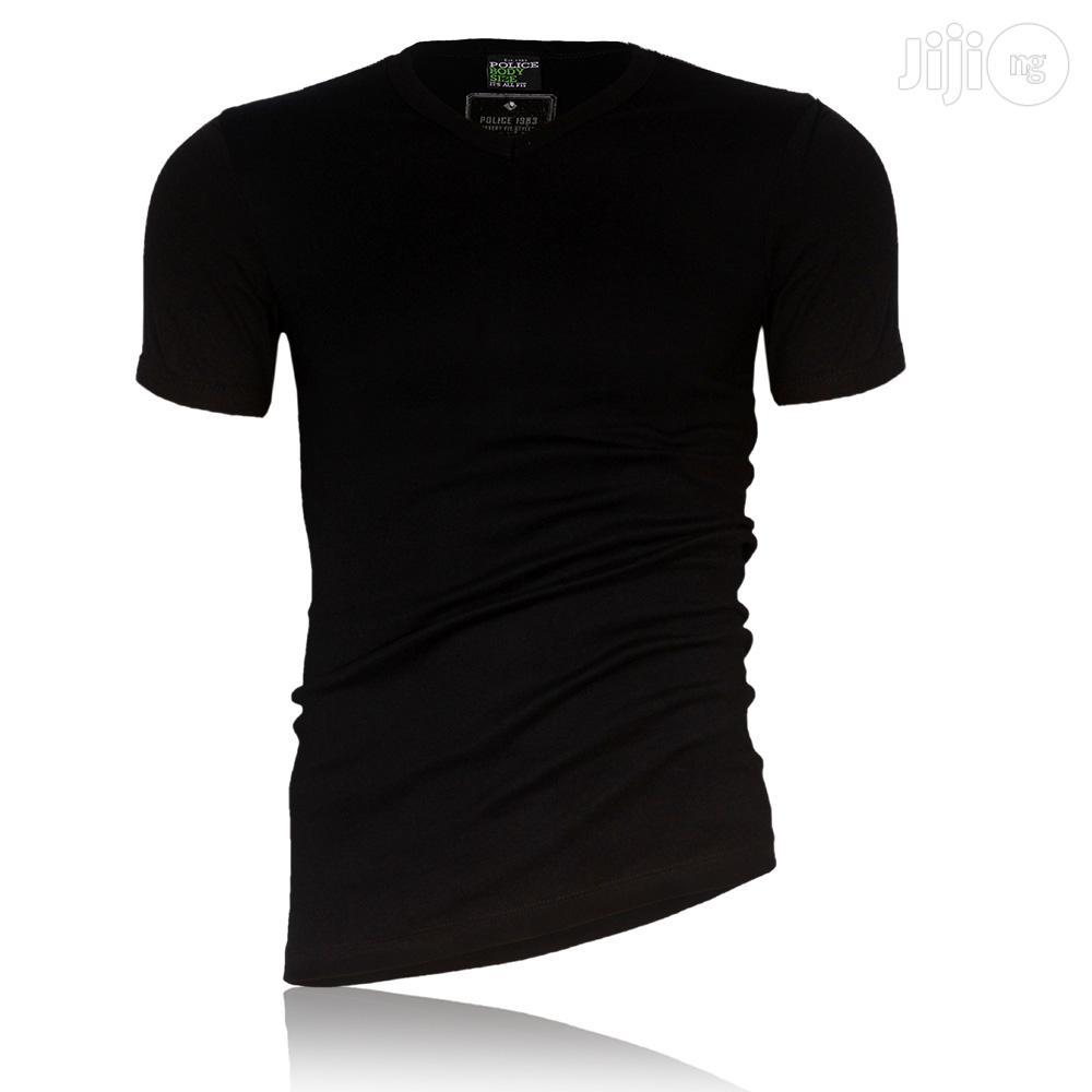 POLICE BRAND M - XL Black T Shirts