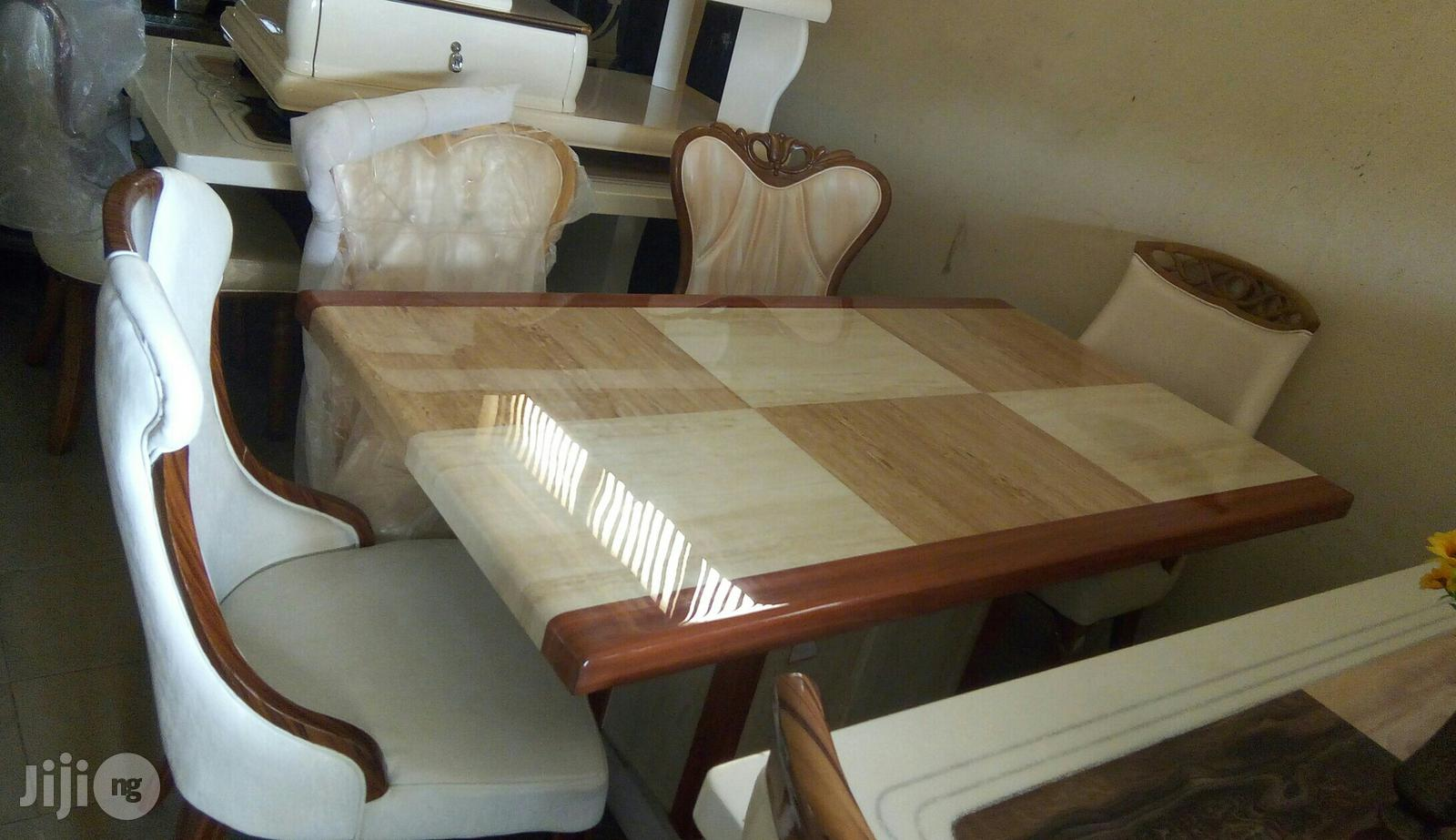 Marble Dining Table (Six Seaters).