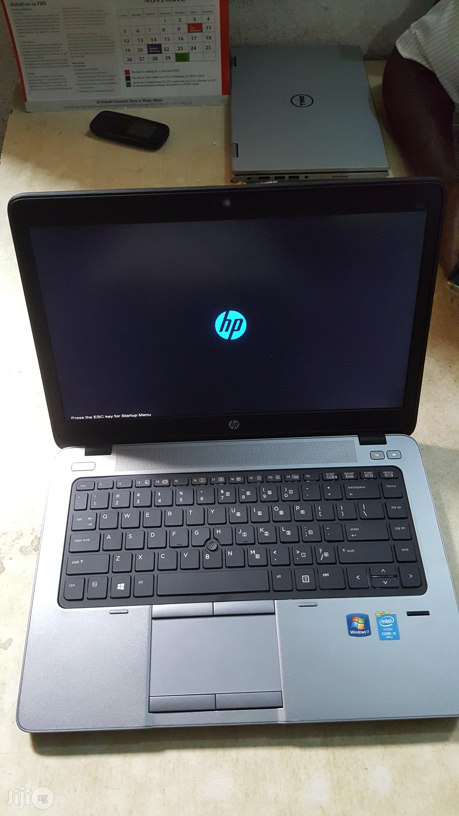 Laptop HP EliteBook 840 G1 4GB Intel Core i5 HDD 500GB | Laptops & Computers for sale in Ikeja, Lagos State, Nigeria