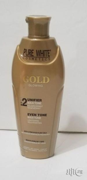 Pure White Gold Glowing Unifier Maxitone, 200ml | Skin Care for sale in Abuja (FCT) State, Gwarinpa