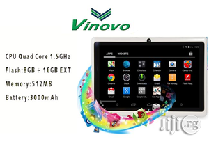 Vinovo Android Tablet 7 Inches 8GB | Tablets for sale in Lagos State, Ikeja