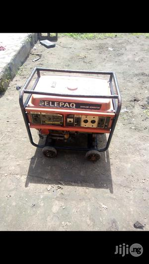 Neatly Used 6.5KVA ELEPAQ EC6500CXS 100% Copper Gen +Receipt | Electrical Equipment for sale in Rivers State, Port-Harcourt