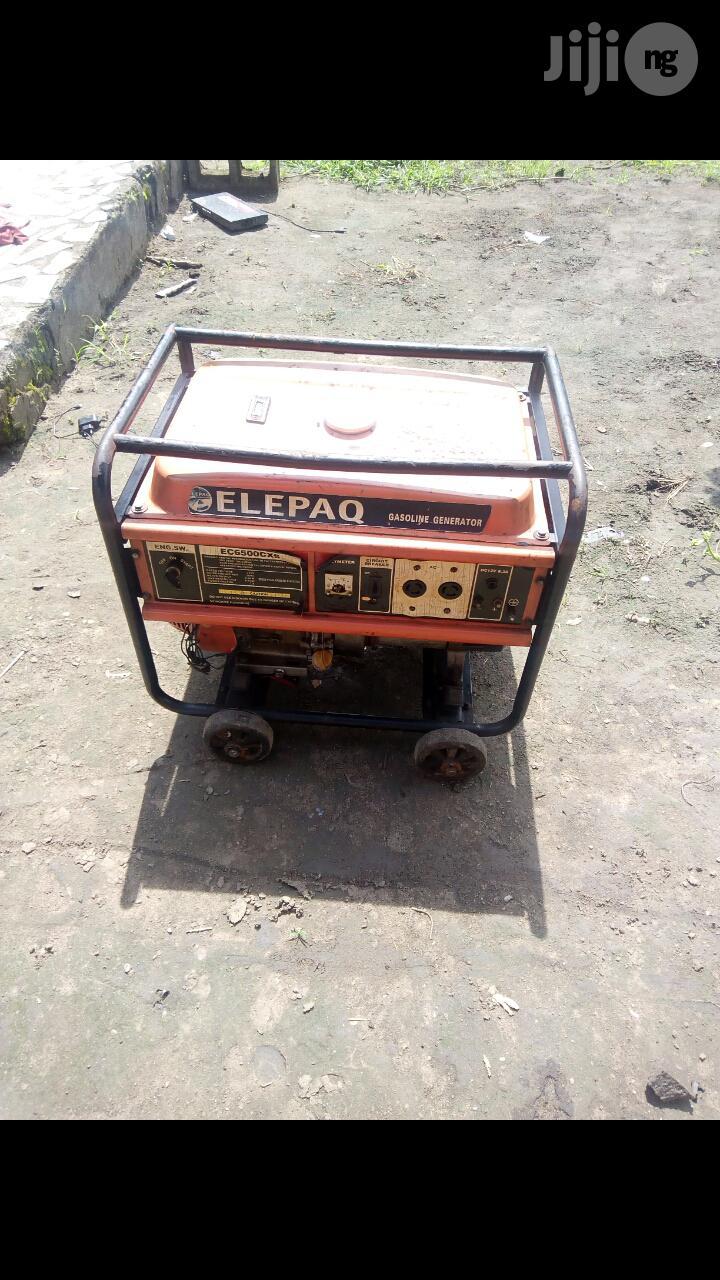 Neatly Used 6.5KVA ELEPAQ EC6500CXS 100% Copper Gen +Receipt