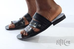 Bespoke Black Palm Sandals   Shoes for sale in Lagos State, Alimosho