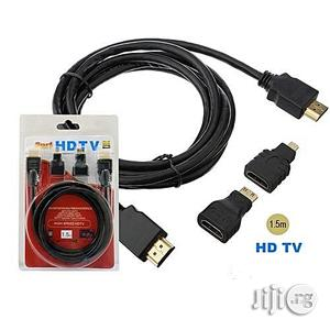3 In 1 1.5M High Speed HDTV Or HDMI Cable   Accessories & Supplies for Electronics for sale in Lagos State, Ikeja