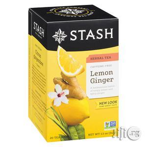 Stash Tea Lemon Ginger Herbal Tea, 20 Tea Bags | Vitamins & Supplements for sale in Lagos State, Ifako-Ijaiye