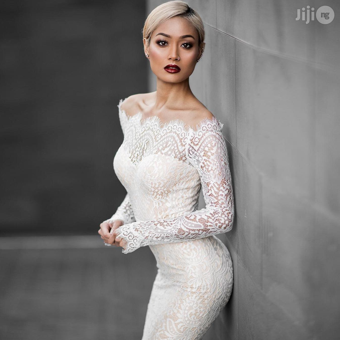 Long Sleeve Fishtail One-piece Lace Dress Female Fashion | Wedding Wear & Accessories for sale in Ikeja, Lagos State, Nigeria