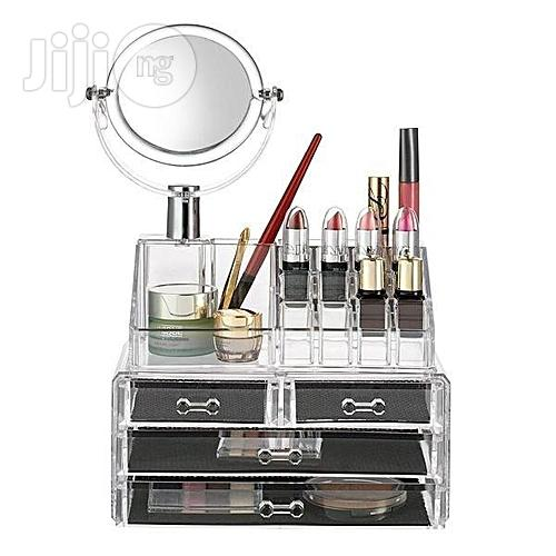 4 Drawer Acrylic Makeup Bag Cosmetic Organizer Storage Box