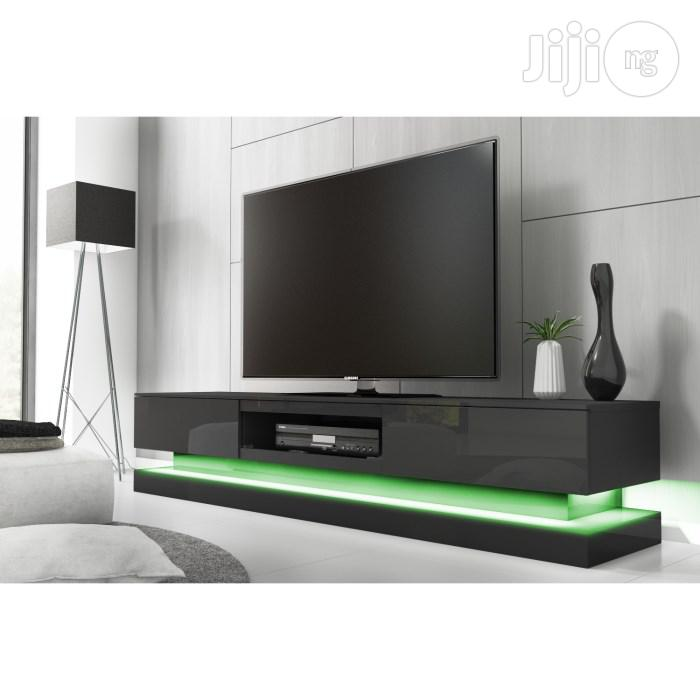 Essence Black Tv Console With LED Lighting