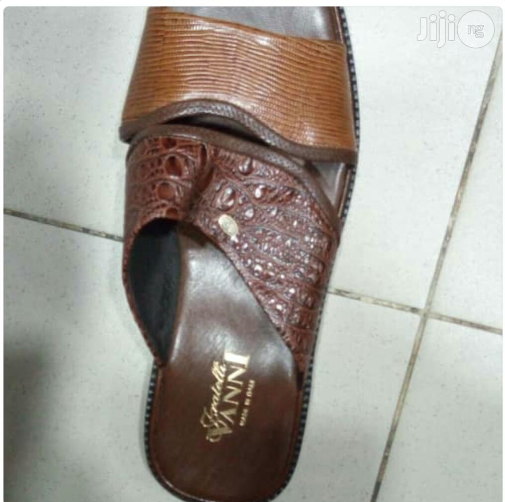 Men's VANNI Italian Leather Sandals | Shoes for sale in Surulere, Lagos State, Nigeria