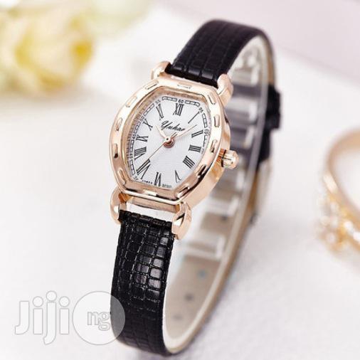 Female Leather Wrist Watch: