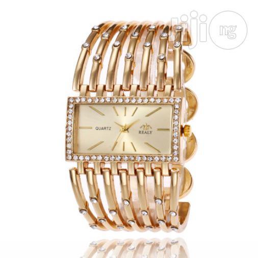 Broadband Ladies Gold Bracelet Watch