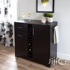 Dark Espresso Brown Wood Wine Bar Cabinet | Furniture for sale in Lagos State, Ipaja