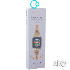 Diamond Elegant Apple Watch Band - W18 - 42mm - Gold   Smart Watches & Trackers for sale in Lagos State, Ikeja