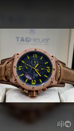 Tag Heuer Genuine Leather Strap Chronograph Watch | Watches for sale in Lagos State, Surulere
