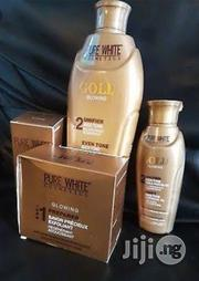 Pure White Gold Glowing Set( Soap,Lotion, Serum and Oil) | Skin Care for sale in Lagos State