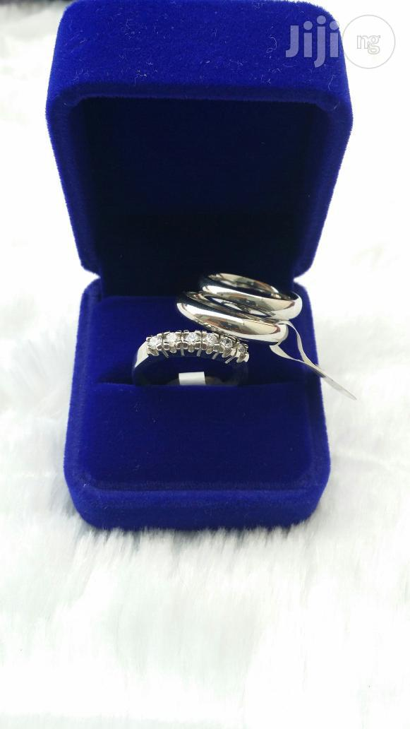 Pure Silver Stainless Steel Wedding Ring