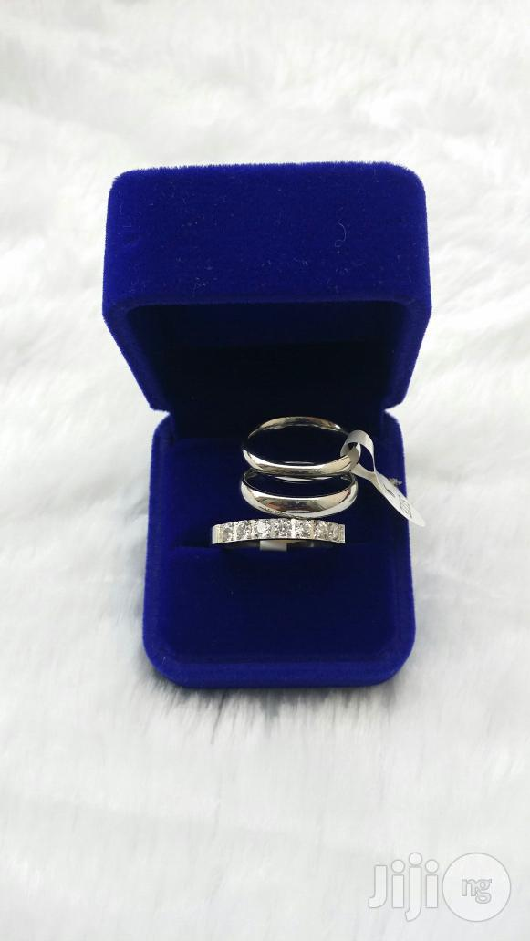Pure Stainless Silver Steel Wedding Ring