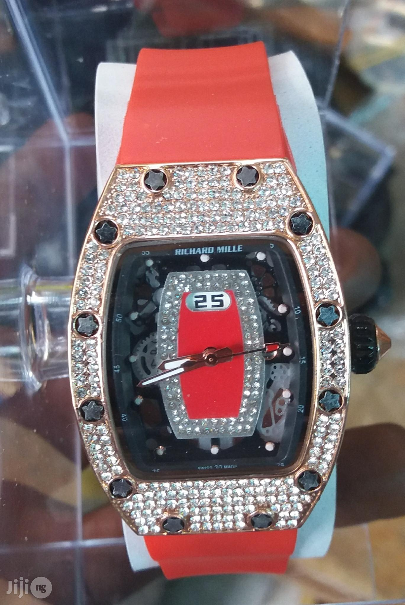 Richard Mills Ice Rubber Strap Watch | Watches for sale in Lagos Island, Lagos State, Nigeria