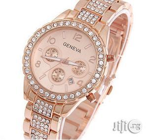 Geneva Classy Rhinestone Bracelet Watch   Watches for sale in Lagos State, Agege