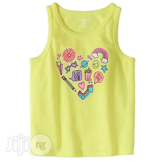 Girls Cute Yellow Tank Top - 5Y