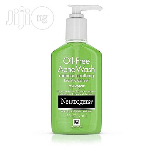 Neutrogena Oil-Free Acne Wash Redness Soothing Facial Cleanser With Salicylic Acid, 6floz