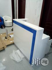 White Reception Table With a Touch of Blue   Furniture for sale in Lagos State, Ilupeju