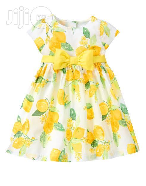 Gymboree White and Yellow Dress - 12/18mths