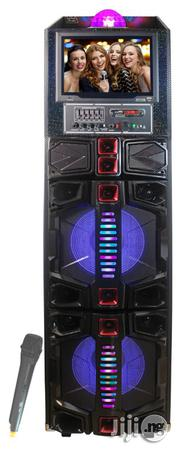 "Amplified Portable 5500 Watts Peak Power Double 12"" Speaker 