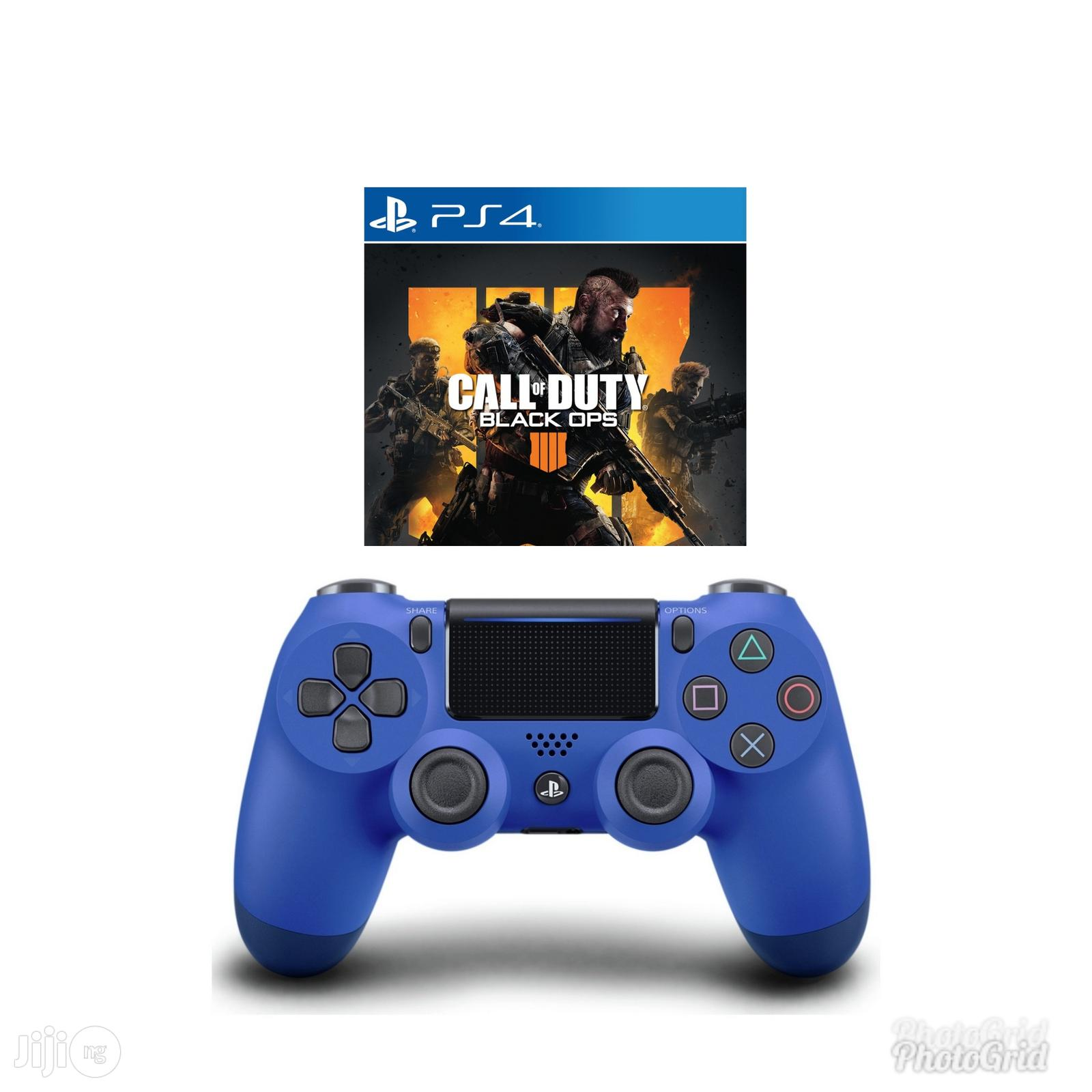 Ps4 Controller Pad + Call Of Duty Black Opps 4 Game