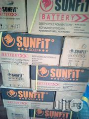 Sunfit Gold 12v200ah Deep Cycle AGM Lead Acid Battery | Solar Energy for sale in Lagos State